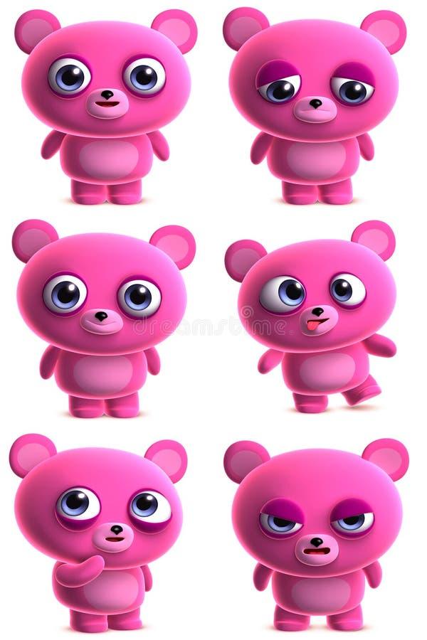 Cute cartoon bear stock illustration