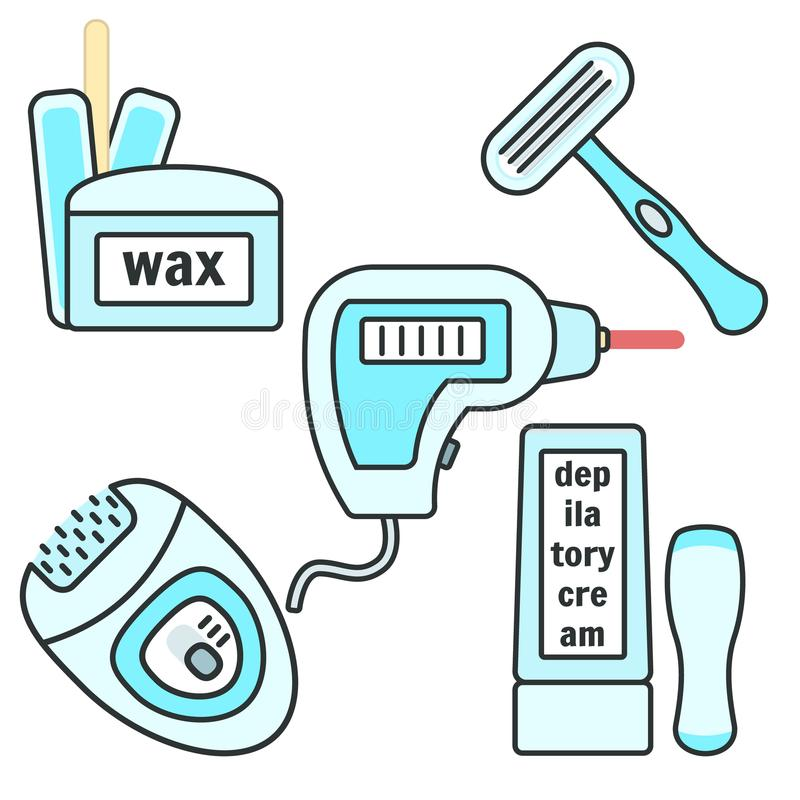 Blue Wax Depilation Icon  Hair Removal Tool Stock Illustration