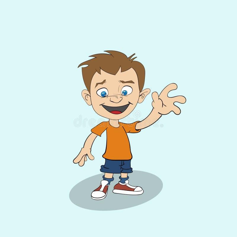 Cute cartoon boy stock photography