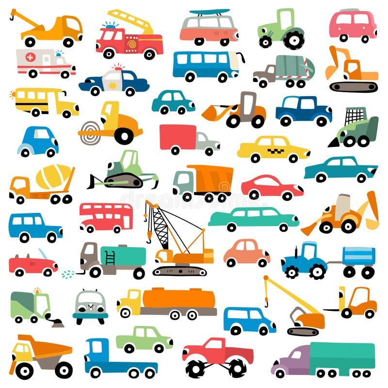 Free Cute Cartoon Cars Vector Illustration Royalty Free Stock Photos - 138425658