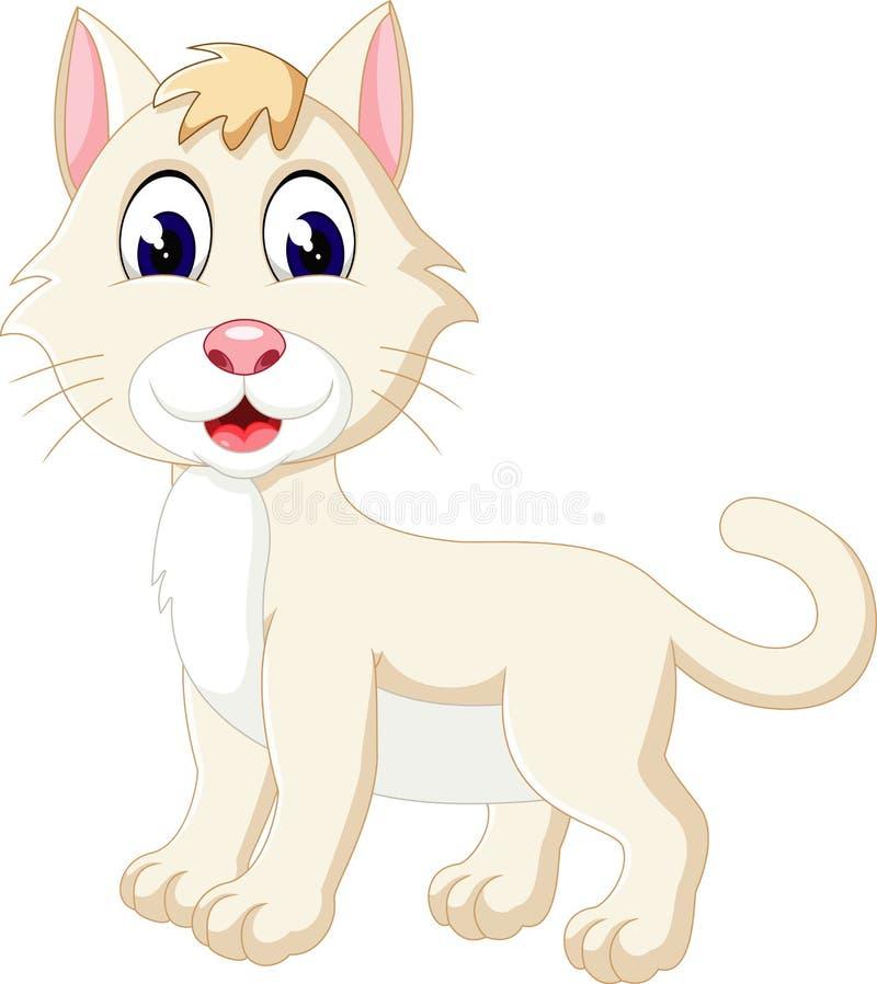 Cute cartoon cat. Illustration of Cute cartoon cat stock illustration