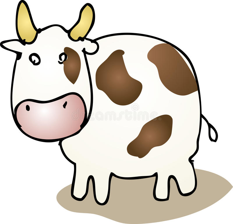 Download Cute cartoon cow stock vector. Illustration of illustration - 9814998