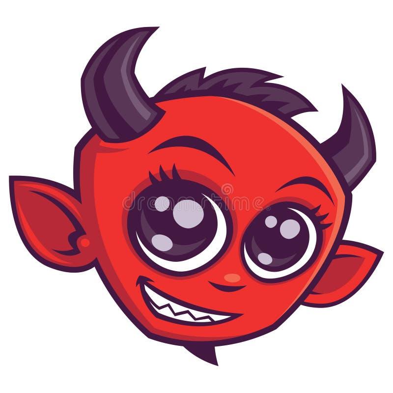 Cute Cartoon Devil stock photo