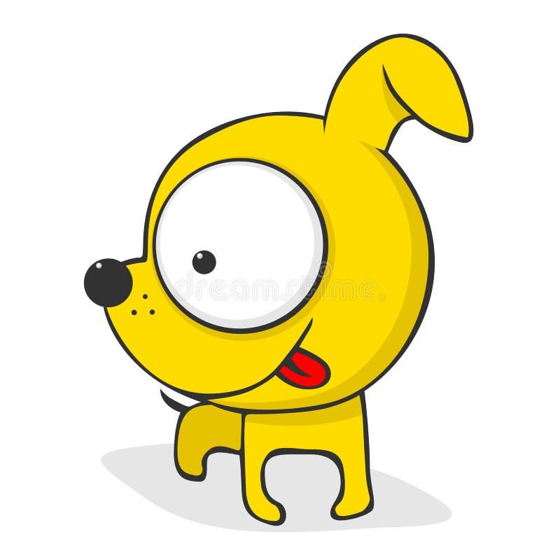 Cute cartoon dog stock illustration