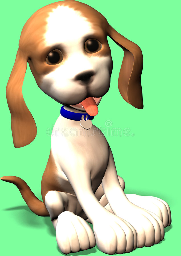 Free Cute Cartoon Dog Stock Photography - 636552