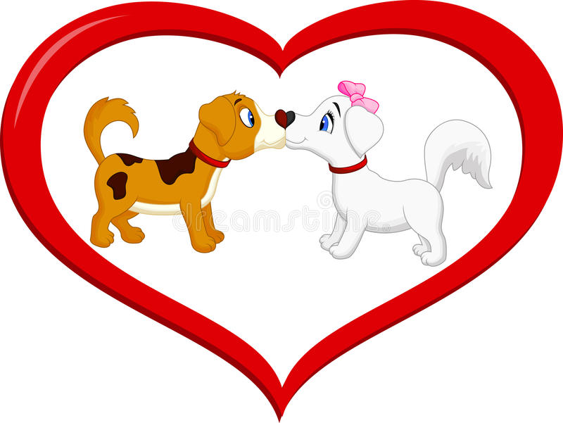 Must see Kiss Anime Adorable Dog - cute-cartoon-dog-kissing-each-other-illustration-45744083  Pic_805242  .jpg