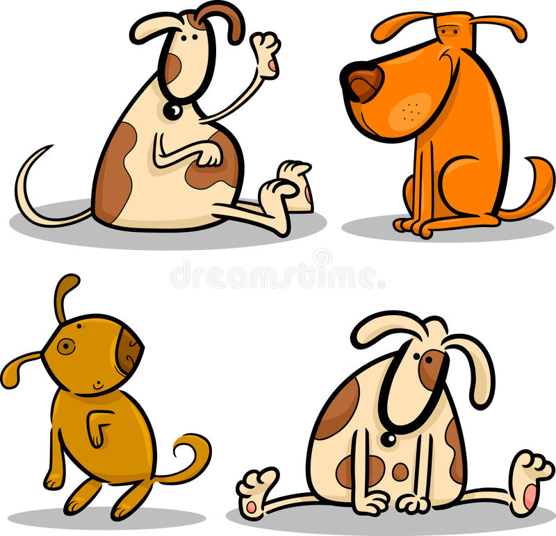 Download Cute Cartoon Dogs Or Puppies Set Stock Vector - Image: 25763337