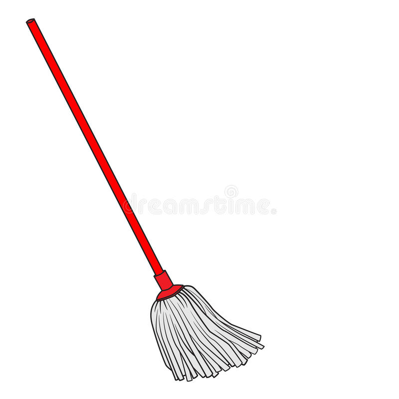 Free Cute Cartoon Doodle Of Mop Stock Image - 88218951