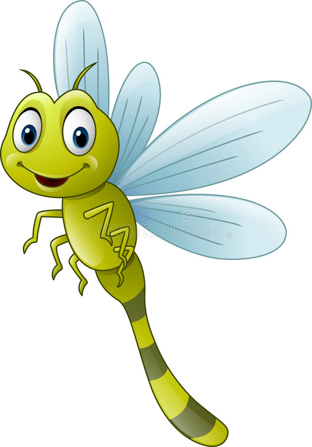 Cute cartoon dragonfly stock vector. Illustration of ...