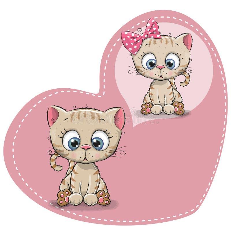 Cute cartoon Dreaming Kitten royalty free illustration