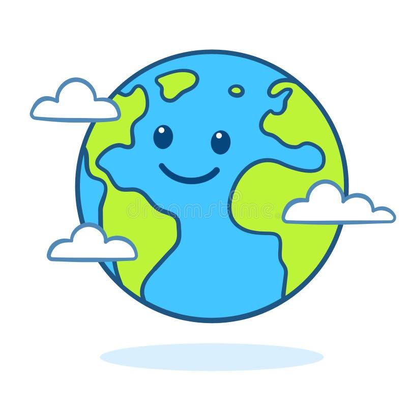 Cute cartoon Earth royalty free illustration