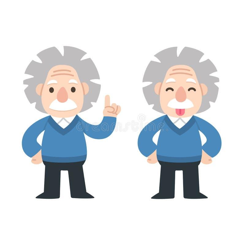 Cute cartoon Einstein royalty free illustration