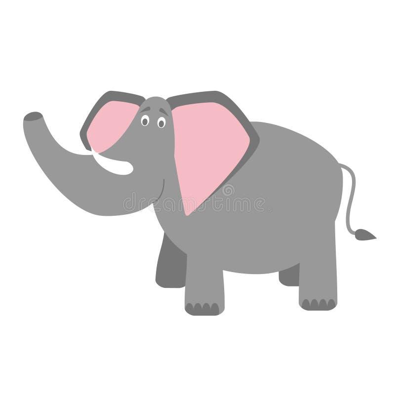 Cute cartoon elephant vector illustration stock illustration