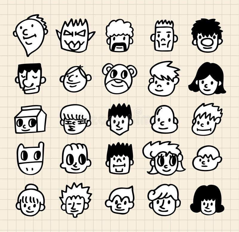 Cute cartoon face stock illustration