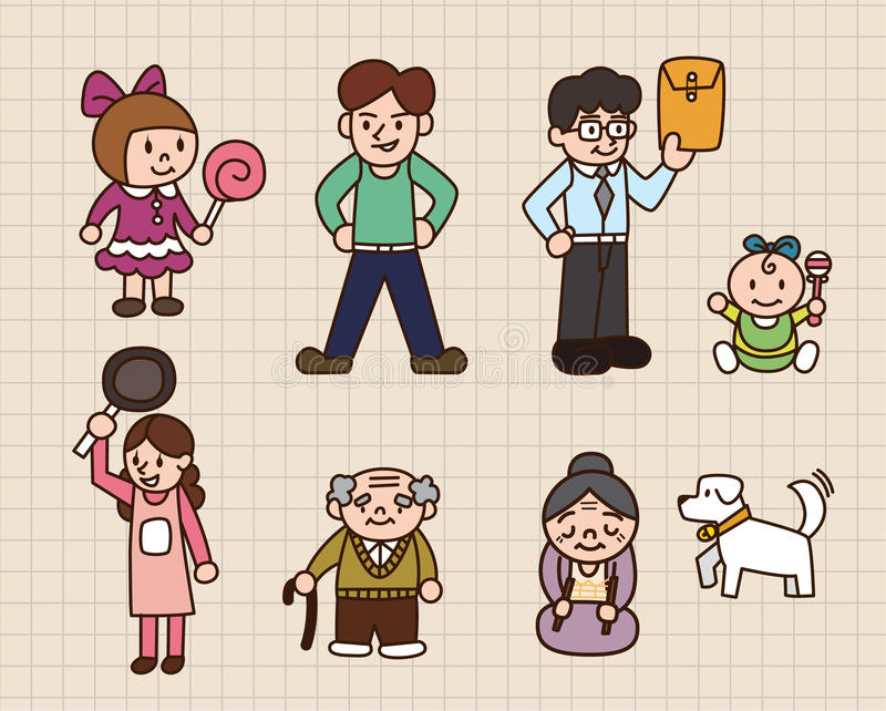 Download Cute cartoon family stock vector. Image of family, female - 16316821