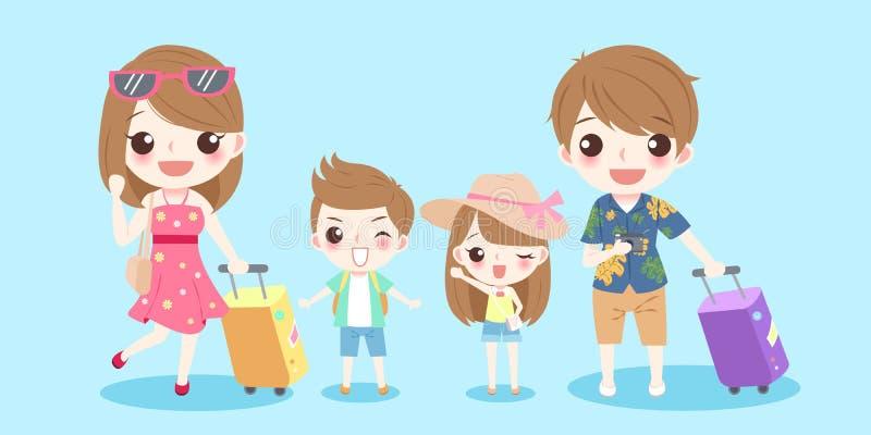 Cute cartoon family stock illustration