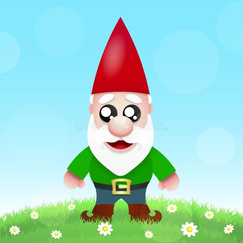 Garden Cute Cartoon: Cute Cartoon Garden Gnomes Stock Vector. Illustration Of