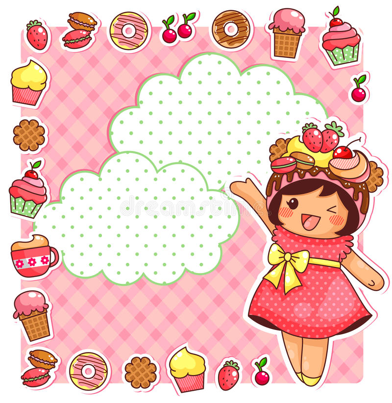 Sweet collection stock illustration