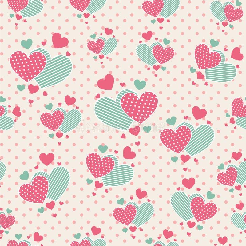 Cute cartoon hearts for scrapbook paper stock vector for Cute paper designs