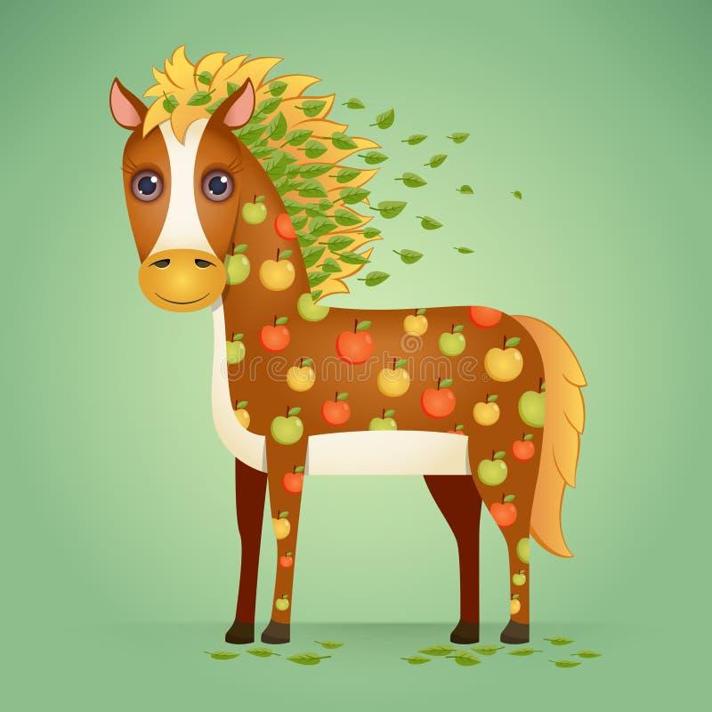 Cute Cartoon Horse royalty free illustration