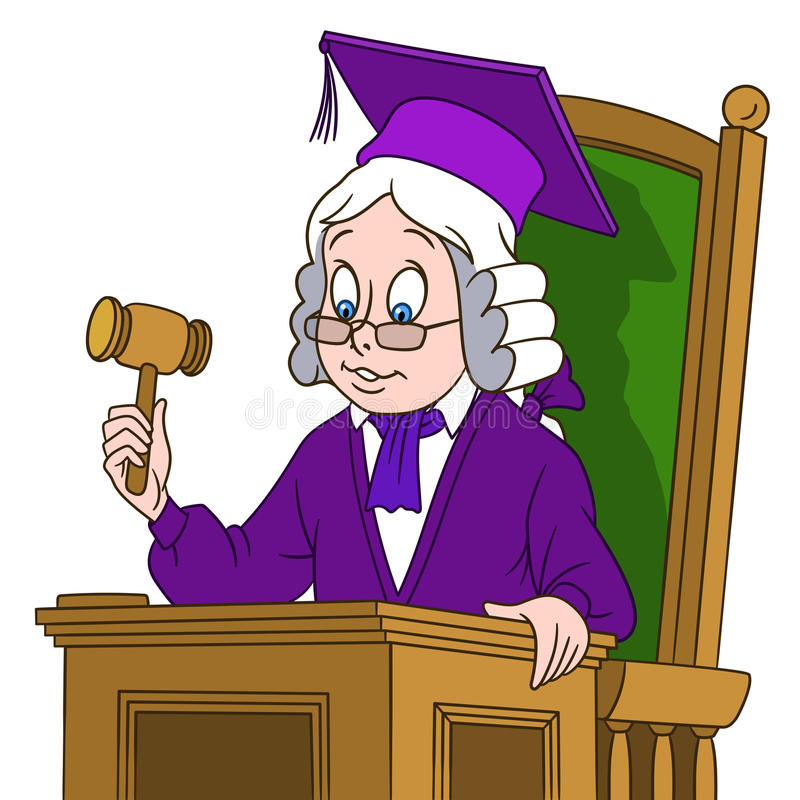 Cute cartoon judge boy royalty free illustration
