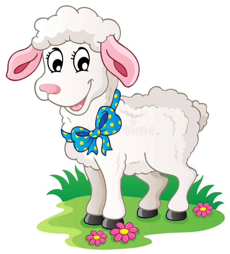 Cute cartoon lamb. Vector illustration royalty free illustration