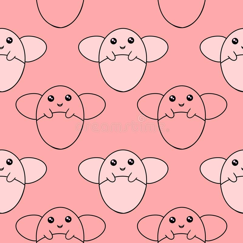Cute Cartoon Line Drawing Firefly Seamless Pattern background Illustration vector illustration