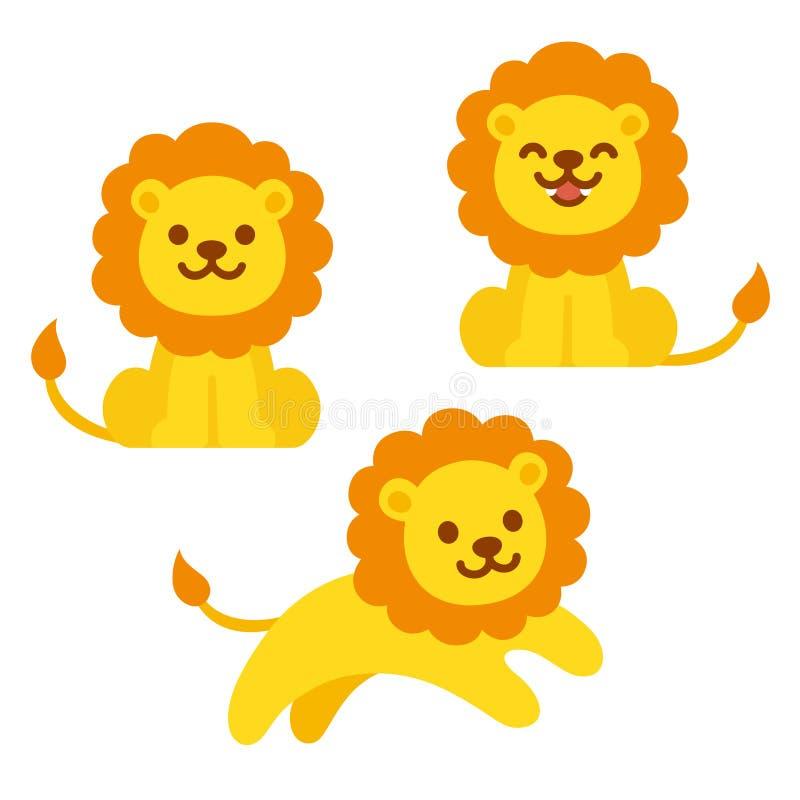 cute cartoon lion set stock vector illustration of character rh dreamstime com  roaring lion clipart free
