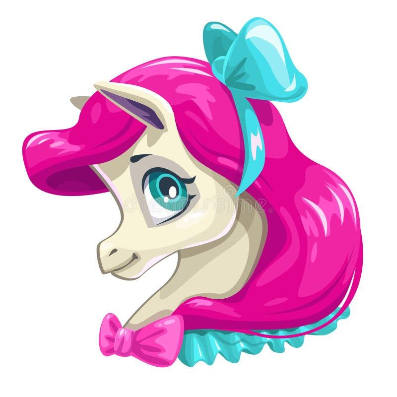 Free Cute Cartoon Little Horse Face. Stock Photos - 101015273
