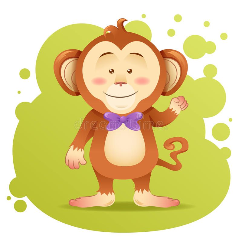 Download Cute cartoon monkey toy stock vector. Illustration of decorative - 29723766