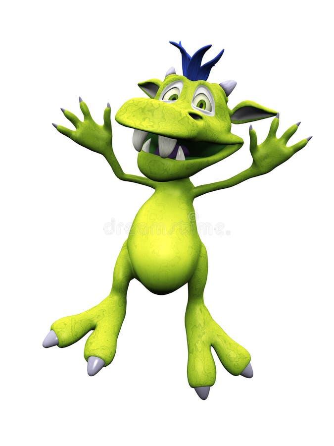 Download Cute Cartoon Monster Jumping For Joy. Stock Illustration - Image: 18136673