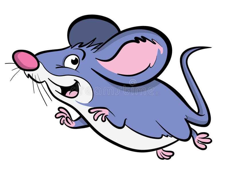 Cute Cartoon mouse. Cartoon illustration of a cute cartoon mouse jumping