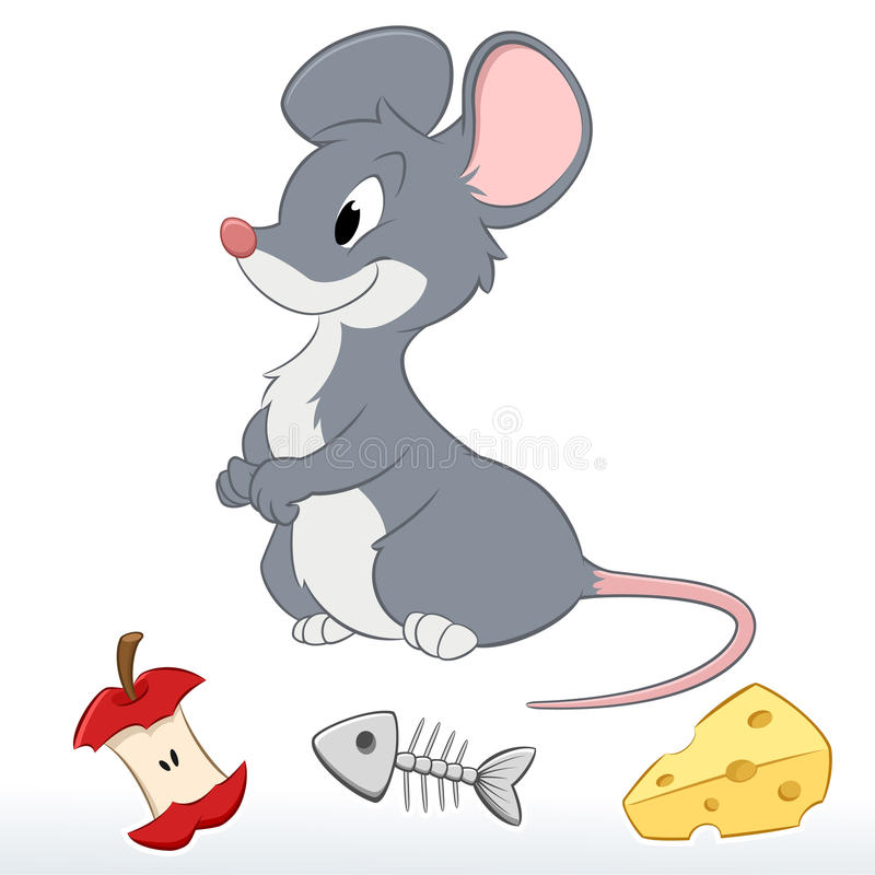 Cute Cartoon Mouse stock vector. Image of cute, friendly ...