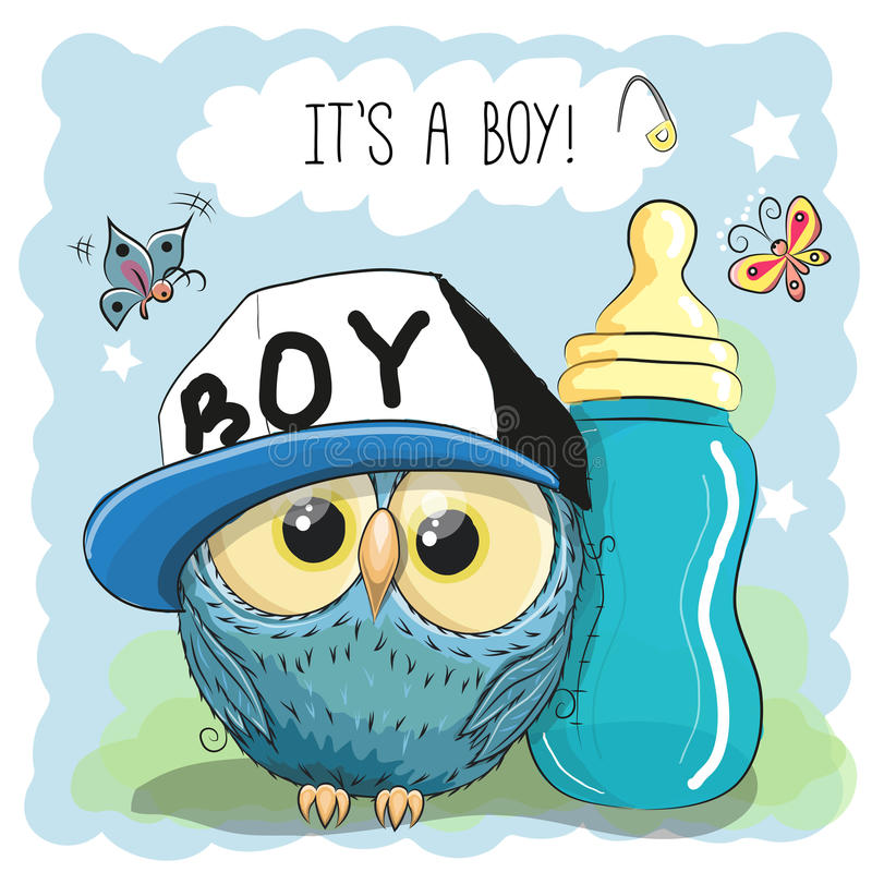 Free Cute Cartoon Owl Boy Royalty Free Stock Images - 75993739