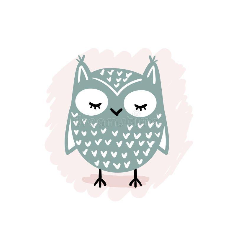Cute Cartoon Owl vector illustration