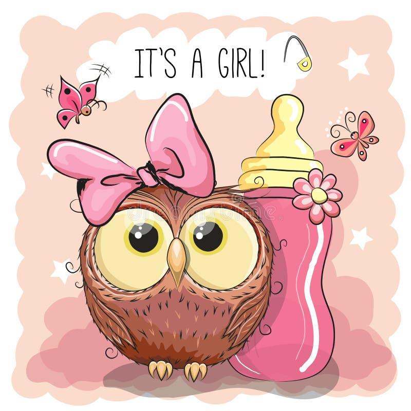 Free Cute Cartoon Owl Girl Royalty Free Stock Photo - 75993965