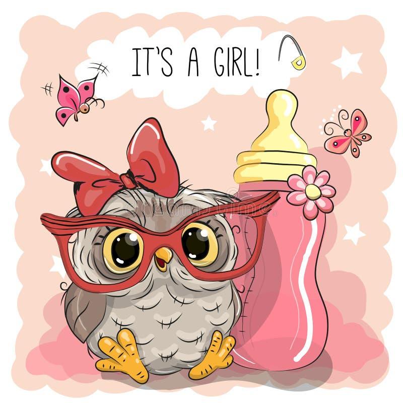 Free Cute Cartoon Owl Girl Stock Photography - 78661032