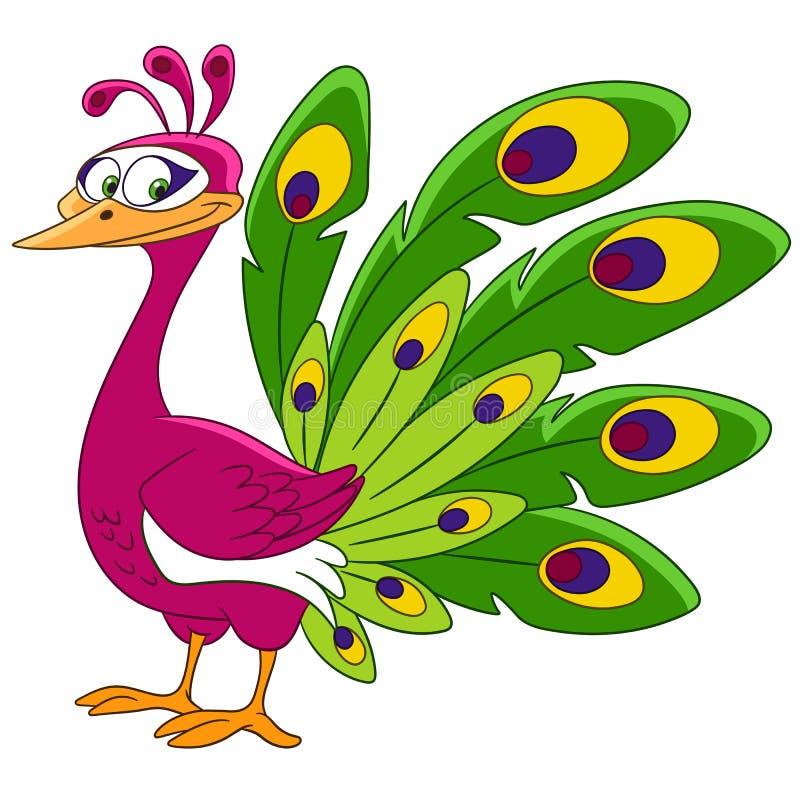 Cute cartoon peacock stock images