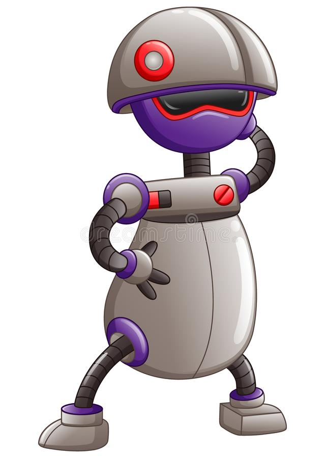Cute cartoon Robot isolated on a white background. Illustration of Cute cartoon Robot isolated on a white background royalty free illustration