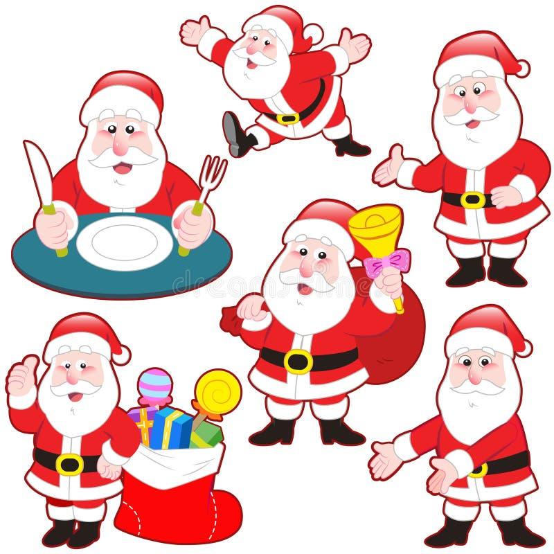 Download Cute Cartoon Santa Claus Collection Stock Vector - Illustration of adorable, saint: 32290461