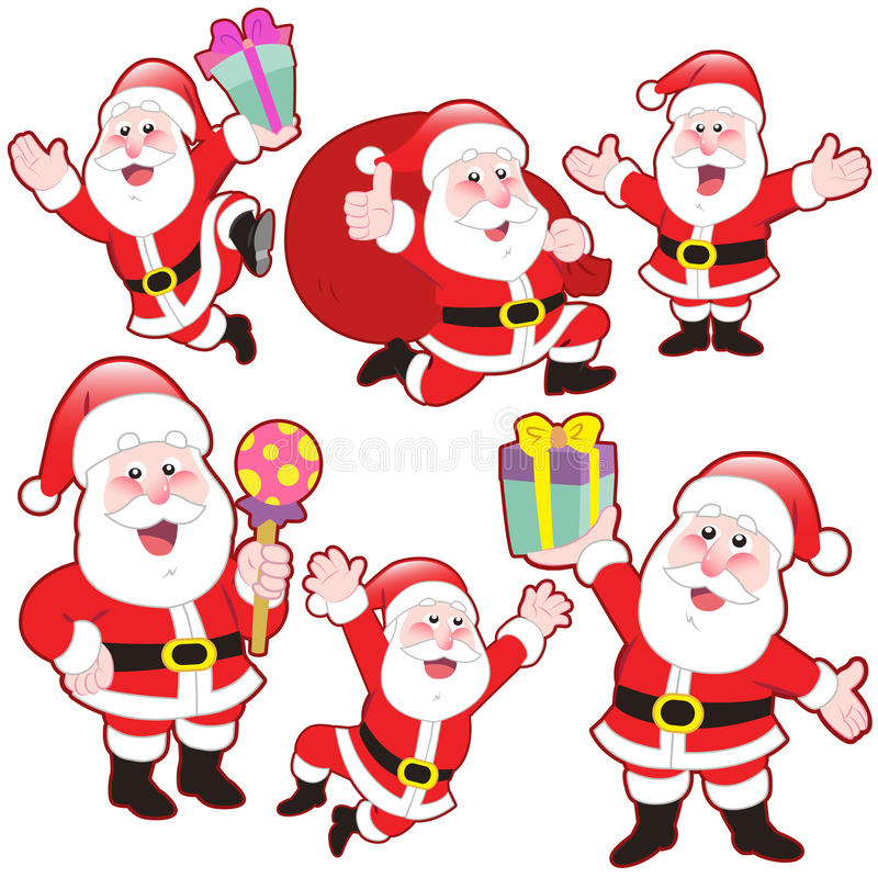 Download Cute Cartoon Santa Claus Collection Stock Vector - Image: 32290486