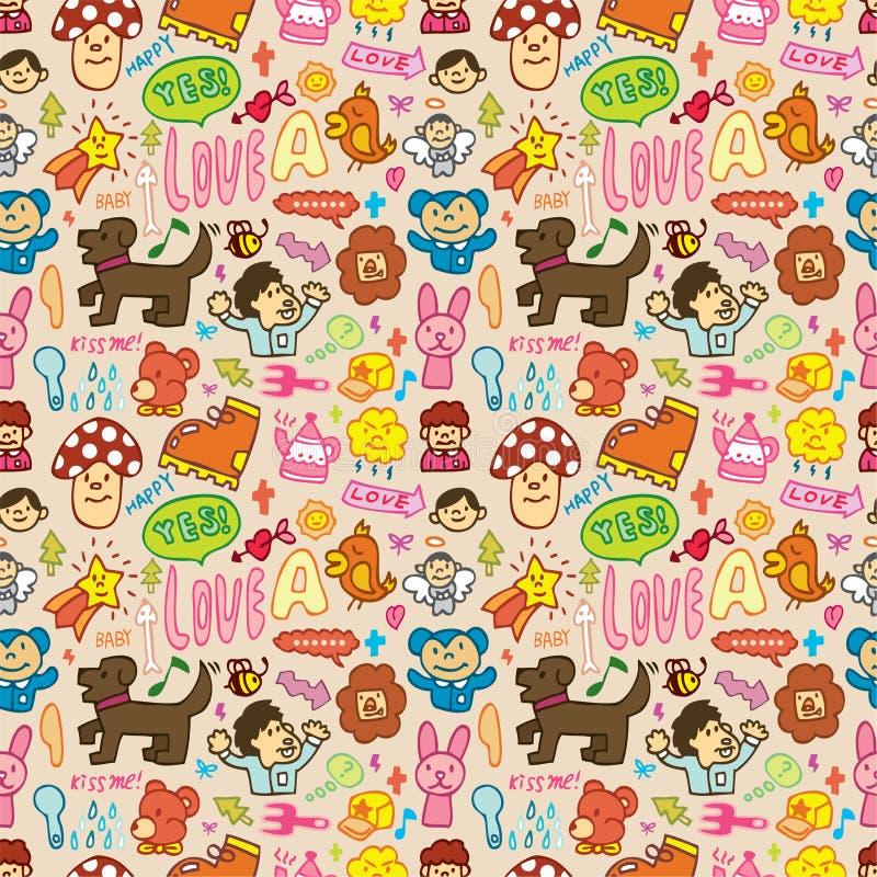 Download Cute Cartoon Seamless Pattern Stock Vector - Image: 16795335