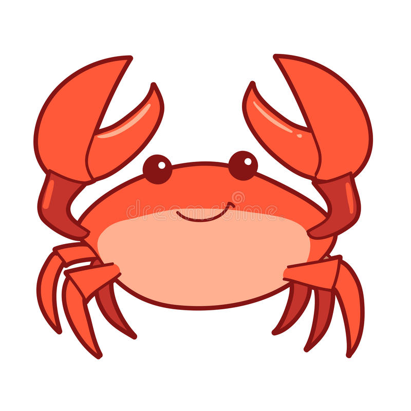 cute cartoon smiling crab stock vector illustration of beach 78279193 rh dreamstime com crab vector graphic free crab vector graphic free