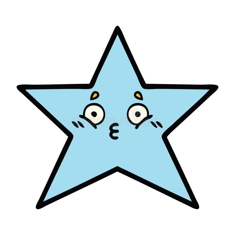 cute cartoon of a star fish royalty free illustration