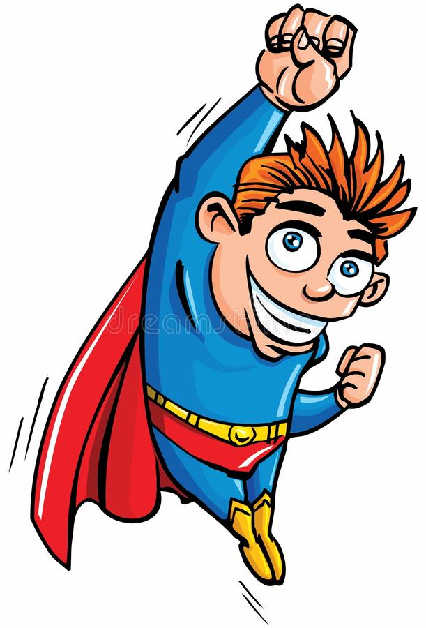 Download Cute Cartoon Superboy Flying Up Royalty Free Stock Photography - Image: 18893227