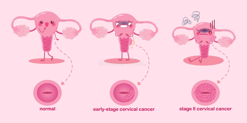 Cute cartoon uterus royalty free illustration