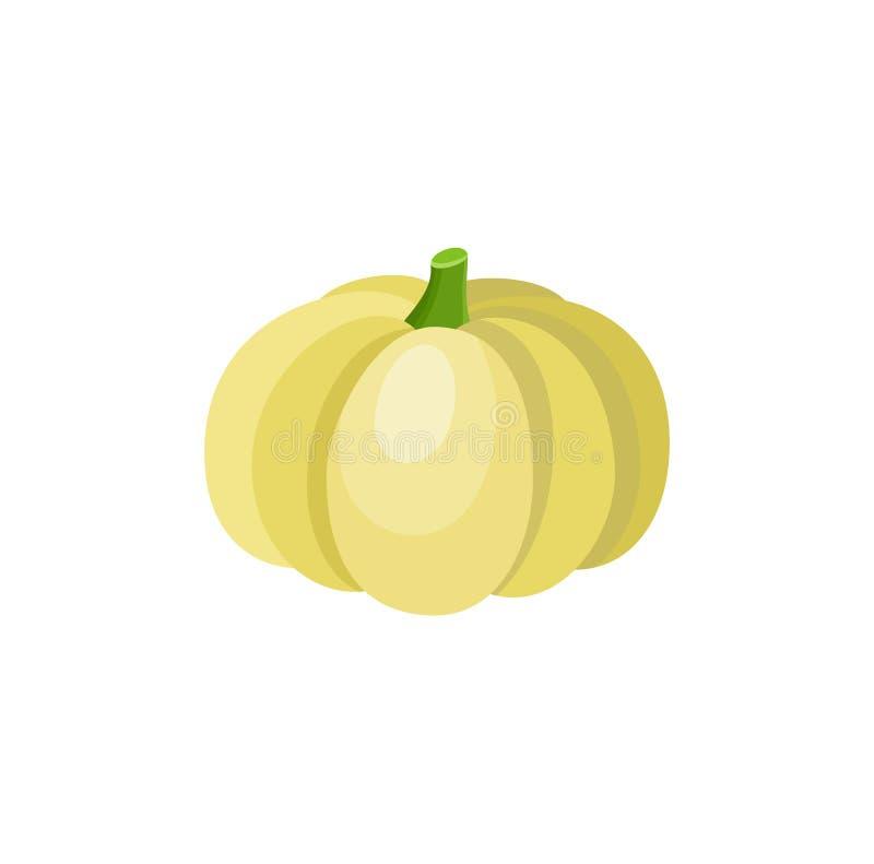 Cute cartoon yellow pumpkin squash vegetable vector illustration
