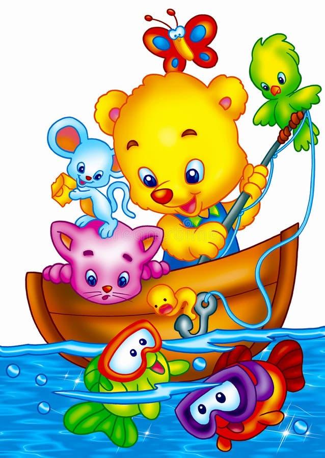 Cute cartoons stock image