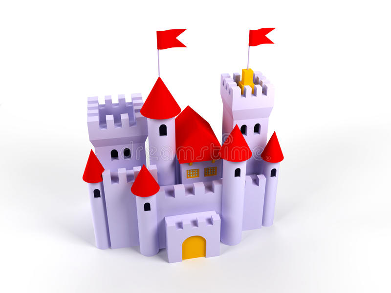 Download Cute castle stock illustration. Image of bright, flag - 20883667
