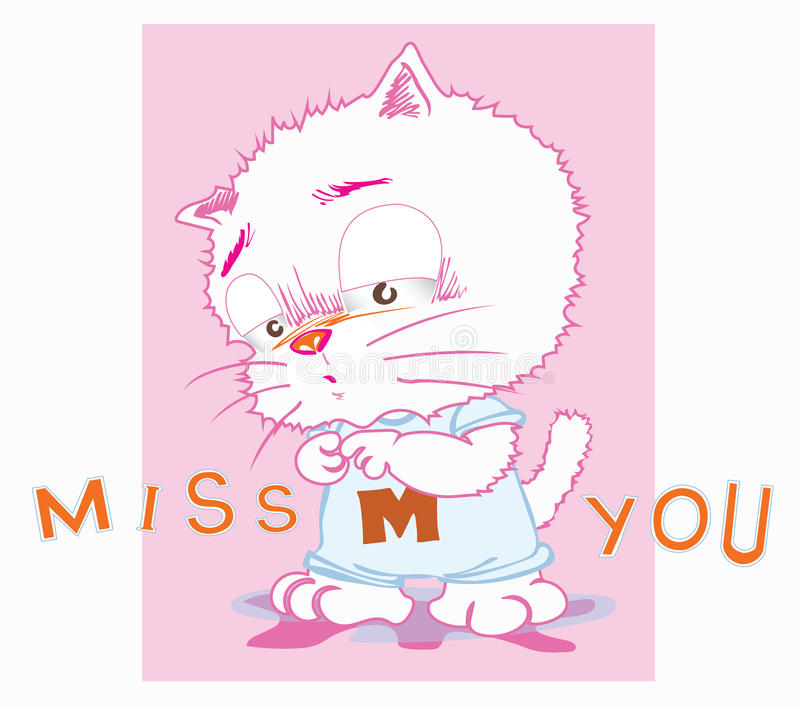 Character Design From The Ground Up Download : Cute cat cartoon miss you acting stock vector